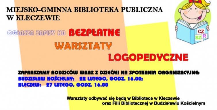 Bezpłatne warsztaty logopedyczne