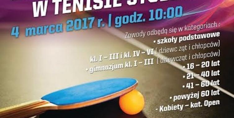 Turniej tenisa dla mieszkańców