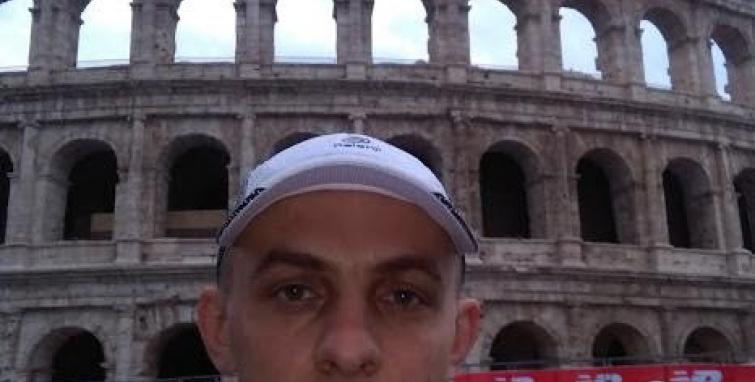 Michał Dryjański na maratonie w Rzymie