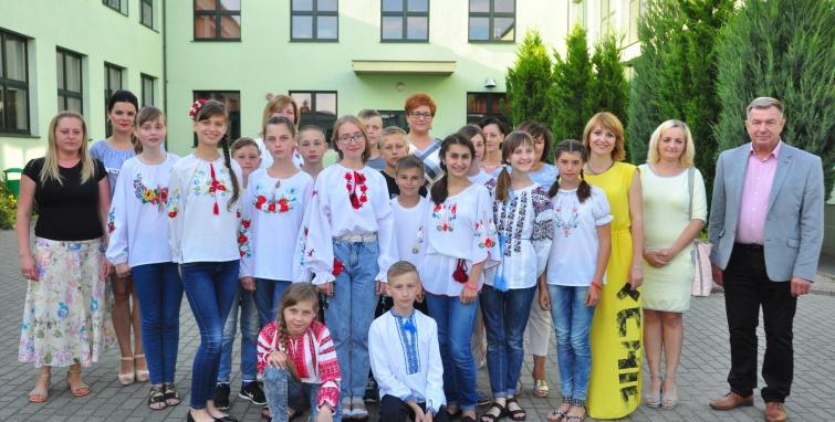 Młodzież z Koziatynia w Kleczewie