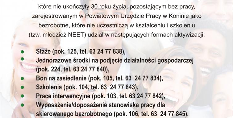 Aktywizacja osób pozostających bez pracy w Powiecie Konińskich