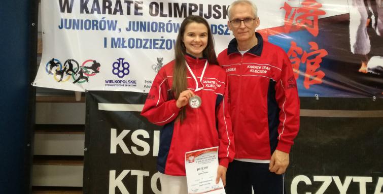 Srebrny medal i tytuł v-ce Mistrzyni Polski dla zawodniczki Sokoła Kleczew