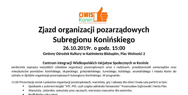 Zjazd organizacji pozarządowych